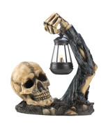 Sinister Skull With Lantern light fantasy decor - $22.79