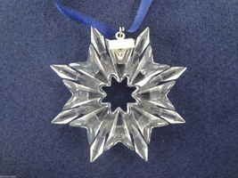 "Swarovski Annual Christmas 3"" Snowflake Star Ornament 2003 - $99.96"