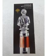 Shannon 24% Lead Crystal Godinger Sommelier Wine Bottle Stopper 4240 NEW... - $25.40