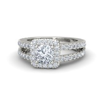 925 Silver White GP Cushion Cut Sim Diamond Princess Ring Free Shipping 7 - $73.68