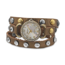 BEGUILING  Bronze Leather Fashion Wrap Watch - ... - $47.00