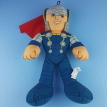 "Marvel Avengers Assemble Thor Plush 14"" Stuffed Doll Cape Blonde  - $12.87"