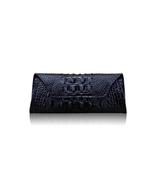 SALE Crocodile Printed Black Leather Clutch.Printed Ladies Leather Long ... - $65.90