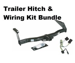 Trailer Receiver Tow Hitch W/ Wiring Harness Kit ~ No Drilling ~ Fast Shipping - $118.76