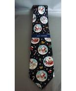 John Ashford ICE FISHING SANTA Silk NECK TIE Christmas Holiday Neck Tie NEW - $9.99