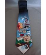 Collectible Looney Tunes Tie Necktie Bugs Bunny Stamp Series US Mail Pilot - $14.50