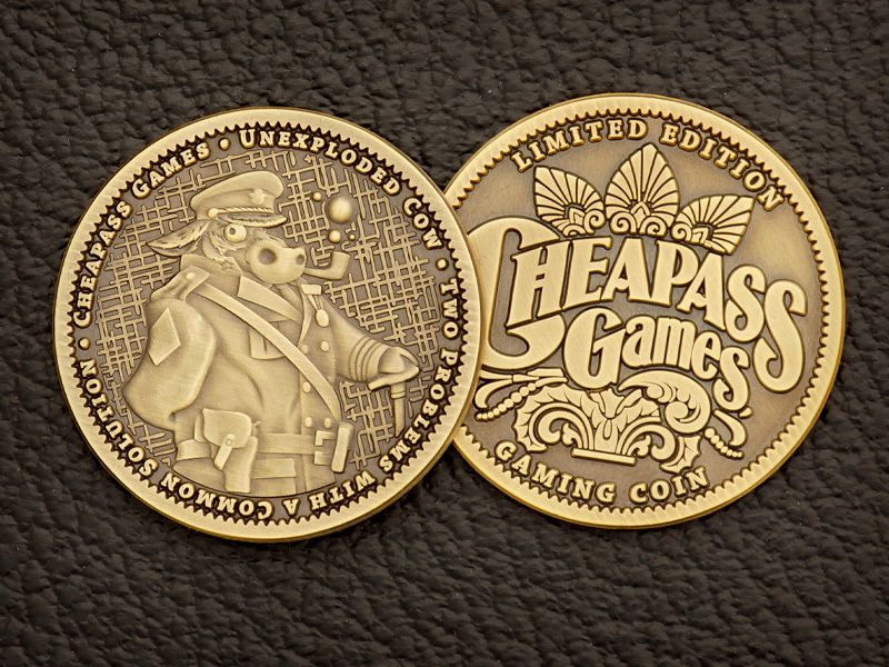 Unexploded Cow Collector Game Token