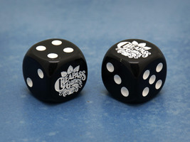 Custom Cheapass Games Six-Sided Die (Black w/White) - $2.00