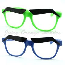 Funny Eyebrows Eyeglasses Clear Lens Novelty Cartoon Frame (4 Colors) - $6.95