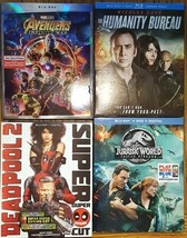 Blu-ray Action New Release lot Avengers Infinity War, Deadpool 2, Jurassic World