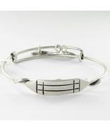 Alex & Ani Atlantean Symbol Horizontal Bracelet Russian Silver NWT - $923,60 MXN