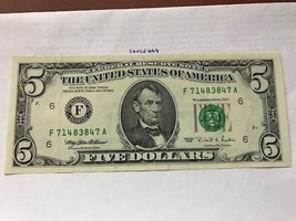 United States Lincoln $5 uncirc. banknote 1995 #7 - $14.95