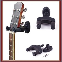Upright Guitar Banjo Ukelele Holder Stand Wall Mounted Rubber Padded Han... - $16.95