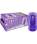 Monster Energy Drink Ultra Violet Zero Calorie Beverage 16 oz. Cans 24 c... - $44.54