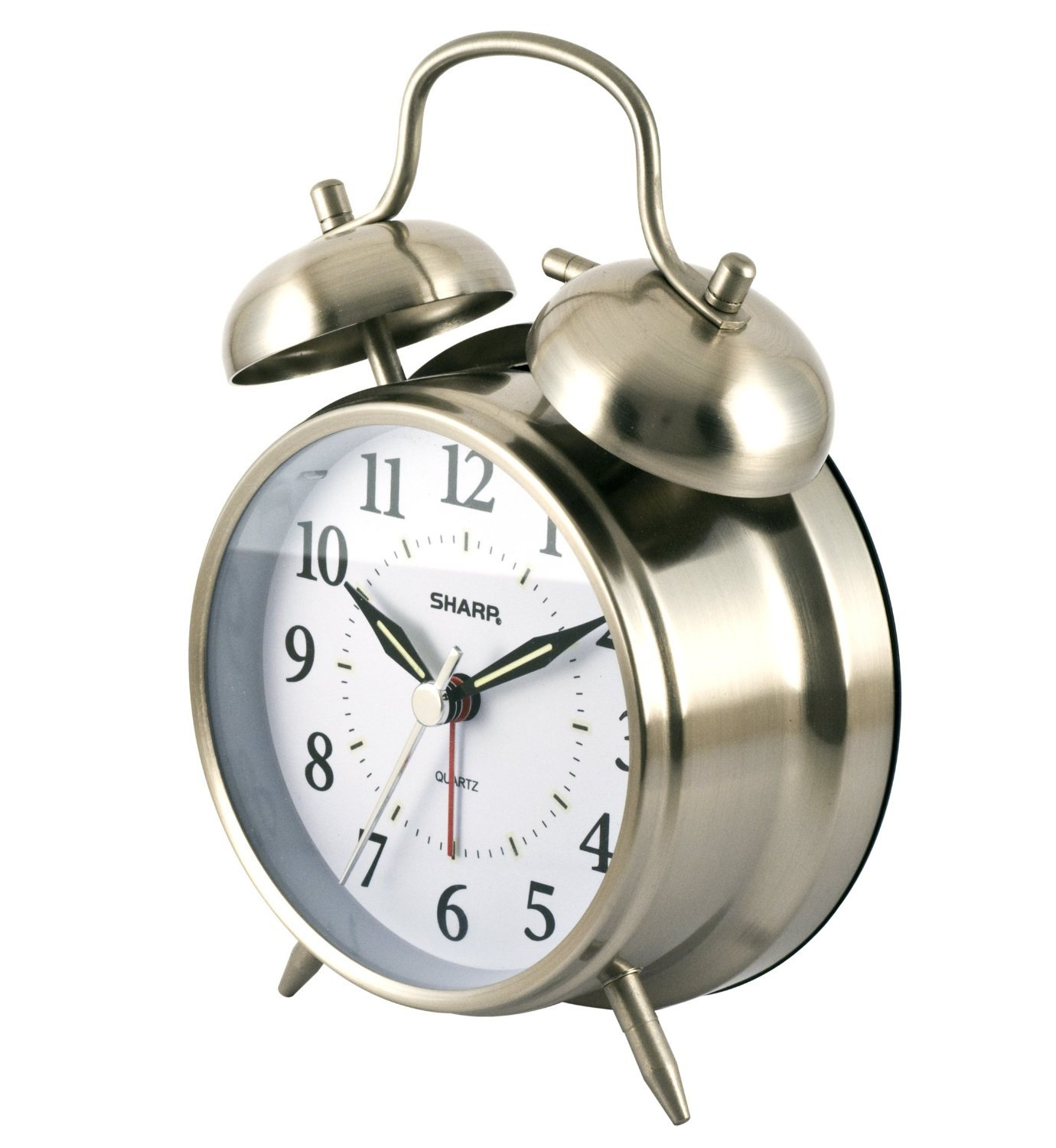 Sharp Quartz Analog Twin Bell Alarm Clock  - $44.58
