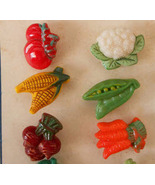 1930s Glass Buttons Czechoslovakian Vintage Buttons Realistic Vegetables... - $60.00