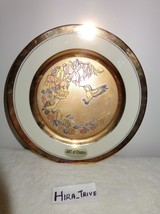 Vintage/Antique The Art of Chokin Plate Made in Japan 24KT Gold Birds Et... - $38.60