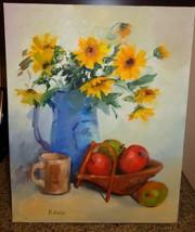 Antique/Vintage Fruits Flowers Vase Cup Unframe... - $241.70