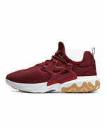 Nike React Presto Team Red White Gum AV2605-601 Running Shoes Men's 9 - $40.94
