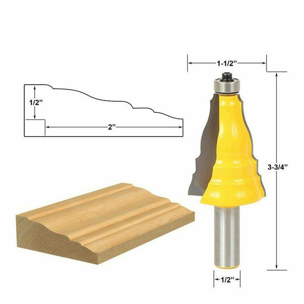 """1/2"""" Shank Crown Molding Router Bit Door Lace Tongue and Groove Slotting Tool - $25.75"""