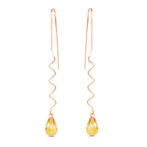 3.3 Carat 14k Solid Rose Gold Sumptuous Shine Citrine Earrings - $142.05