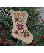 Sampler Stocking Ornament christmas holiday cross stitch chart Abby Rose... - $6.50