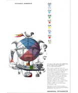 1957 General Dynamics Air-Voyages airship print ad - $10.00