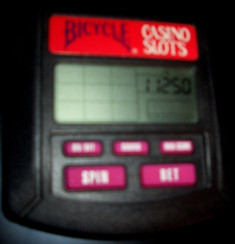 BICYCLE CASINO SLOTS HAND HELD ELECTRONIC GAME - $12.00