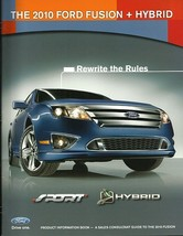 2010 Ford FUSION dealer Product Information Book sales brochure training... - $8.00