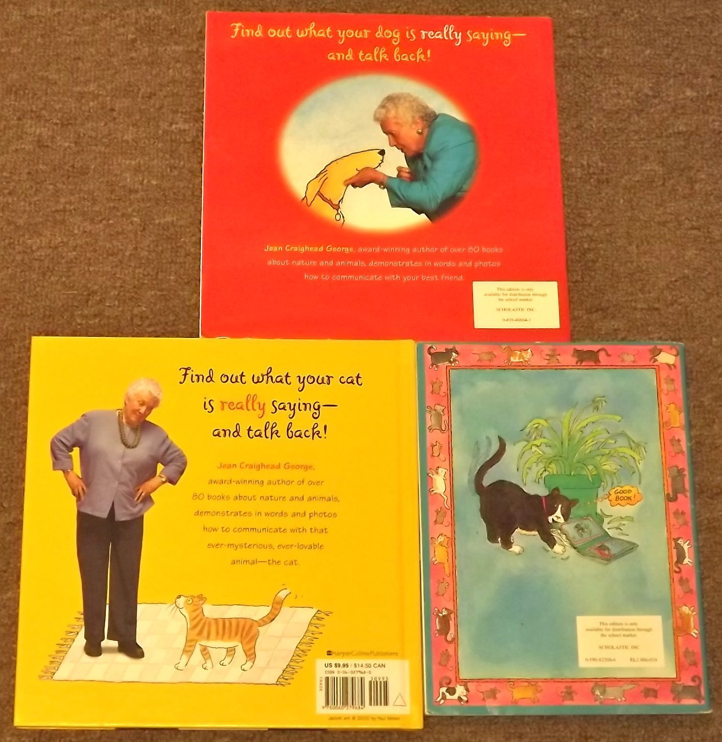 3 books How to Talk to Your Cat, How to Talk to Your Dog