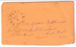 1852 Belfast, ME Vintage Post Office Postal Cover - $7.99