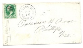 c1880 South Norridgewock, ME Discontinued/Defunct Post Office (DPO) Post... - $7.99