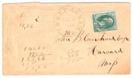 c1882 Ashburnham, MA Vintage Post Office Postal Cover - $7.99