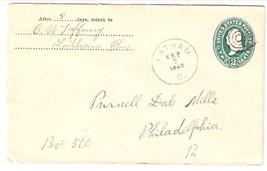"c1896 Latham, OH Vintage/Philadelphia, Pa ""Station R"" DPO Postal Cover - $7.99"