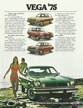 1975 Chevrolet VEGA sales brochure catalog 1st Edition LX GT Chevy - $8.00