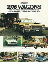 1975 Chevrolet WAGONS brochure catalog CAPRICE IMPALA MALIBU VEGA Chevy - $9.00