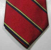 Brooks Brothers Makers Rich Red Navy Gold Green Stripe Tie Rare  100% Silk - $29.99