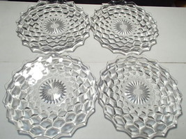"4 FOSTORIA AMERICAN 8 1/2"" SML CENTER SALAD / LUNCH PLATES - $12.95"