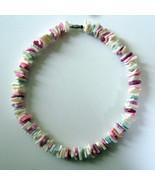 1970s Vintage Hawaiian Puka Shell Chip Necklace... - $11.87