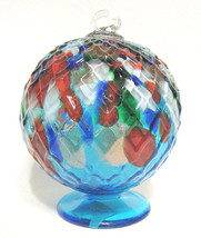 Large Glass Ball Multi-Faceted and Multi-Colored - $40.09