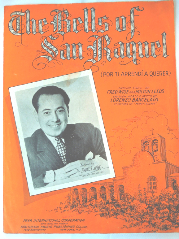 "Primary image for Vintage Sheet Music -1934 - ""The Bells Of San Raquel  English and Spanish #7734"