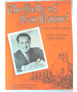 "Vintage Sheet Music -1934 - ""The Bells Of San Raquel  English and Spanis... - $4.99"