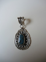 Native American Navajo Sterling Silver Turquois... - $278.63