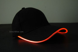 Led glow hat orange1 thumb200