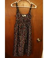 Derek Heart Black Polka Dot Dress - Size Juniors Medium - $11.99