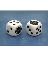 Custom Cheapass Games Six-Sided Die (White w/Bl... - $2.00