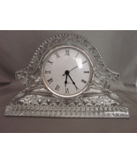 Quartz Mantle Clock Royal Limited 24% Full Lead Handcut Crystal Czech Re... - $19.00