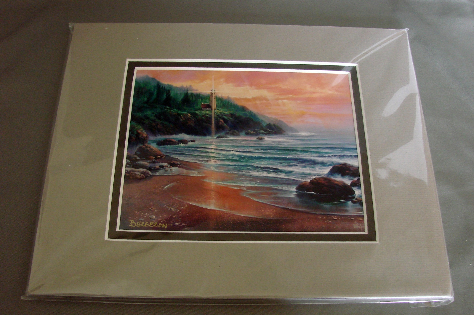 Primary image for Homeward Bound Mini Print Matted and  Signed by Sandy Bergeron