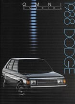 1988 Dodge OMNI AMERICA sales brochure catalog US 88 - $6.00