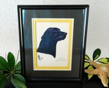 Vintage black labrador retriever lab dog limited edition print 1983 thumb155 crop